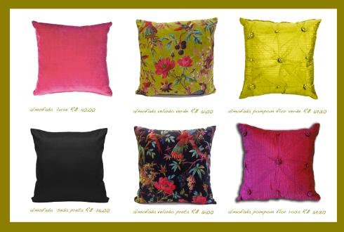 almofadas coloridas