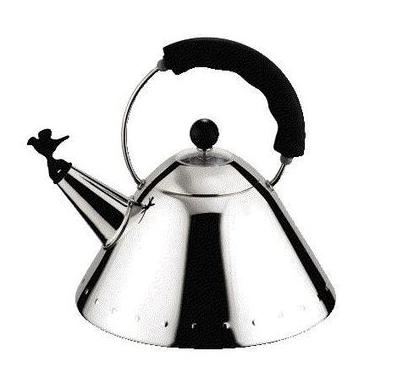 chaleira de Michael Graves, (1985) símbolo da marca.