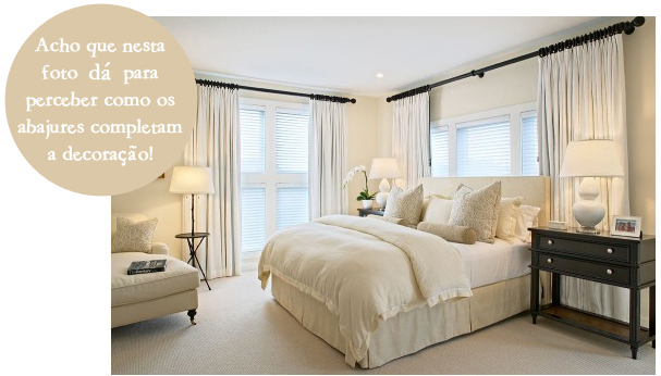 abajur no quarto de casal  decorandoonline