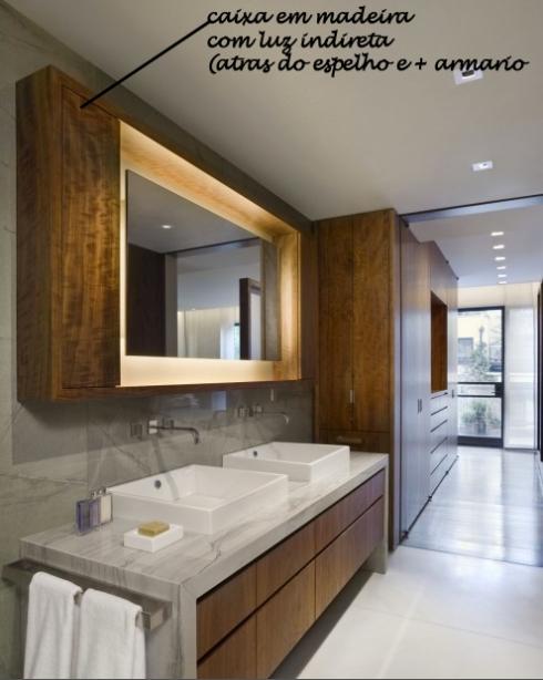 espelho com luz para banheiro