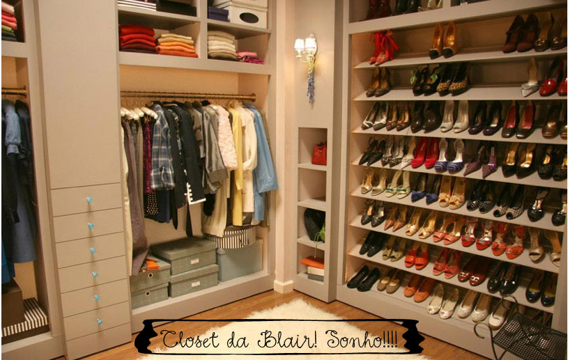 Closet blair waldorf decorandoonline for Modelos de walk in closet