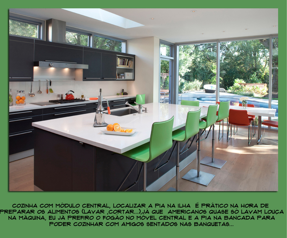 Cozinha Com Ilha Central Cozinha Moderna Decorandoonline