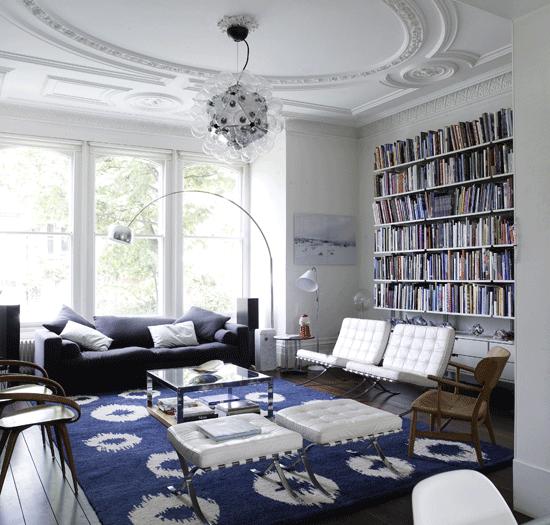 Sala De Estar Branca E Azul ~ sala de estar azul e branca  decorandoonline