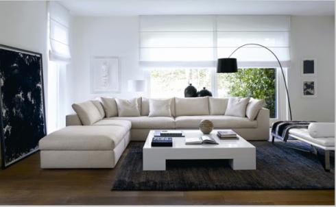 """As cortinas do modelo """"romana"""" são super modernas e podem ser executadas em tecido transparente ou tecido mais grosso."""