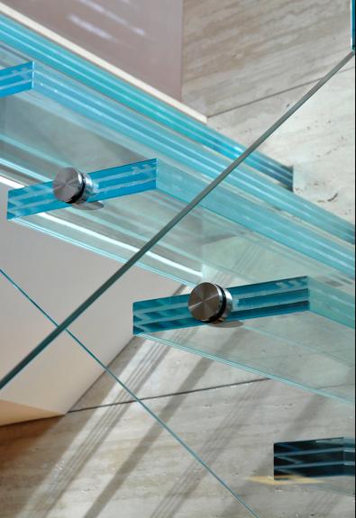 corrimã de vidro