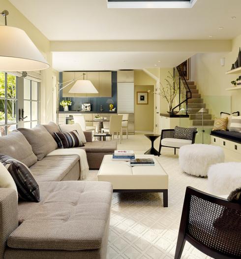 Voce pode ter a cozinha junto com a sala em ambientes super sofisticados!