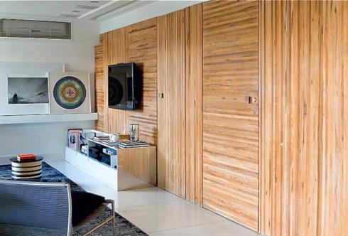 parede em madeira