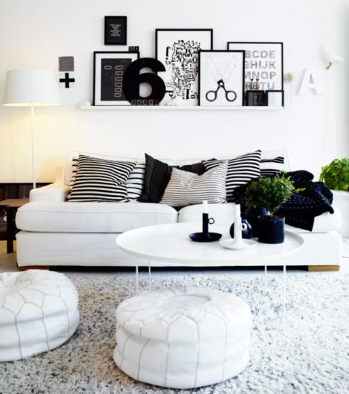 ambientes em preto e branco