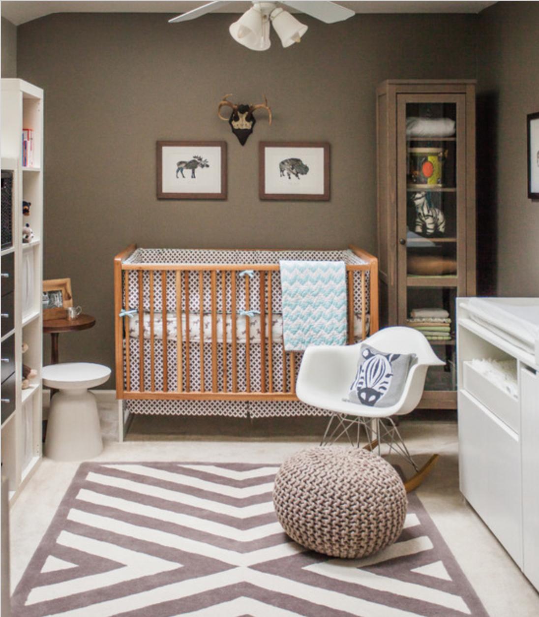 um quarto de bebe moderno decorandoonline. Black Bedroom Furniture Sets. Home Design Ideas