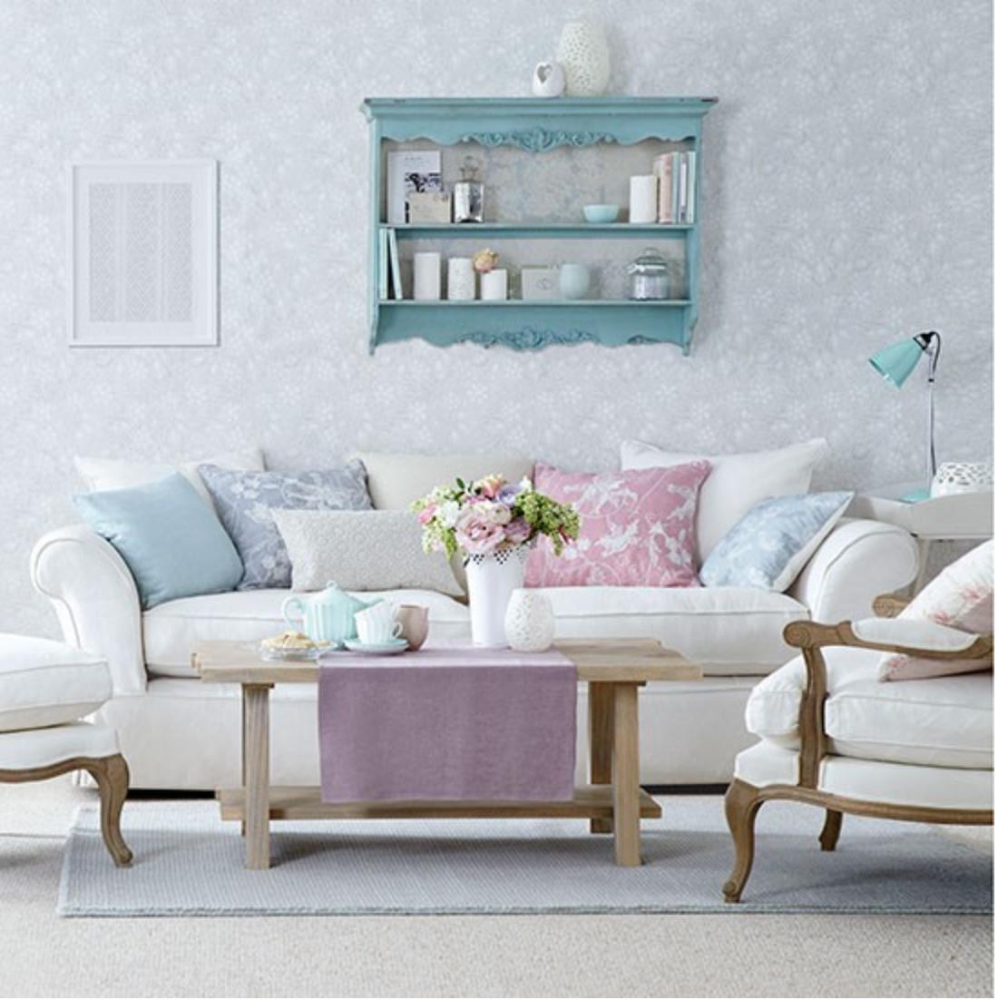 Mesadejantar decorandoonline - Blue and pink living room ideas ...