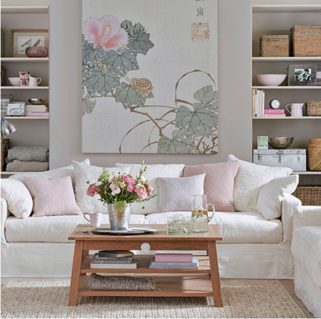 Salas pequenas romanticas e muito charmosas decorandoonline for Grey wallpaper living room ideas