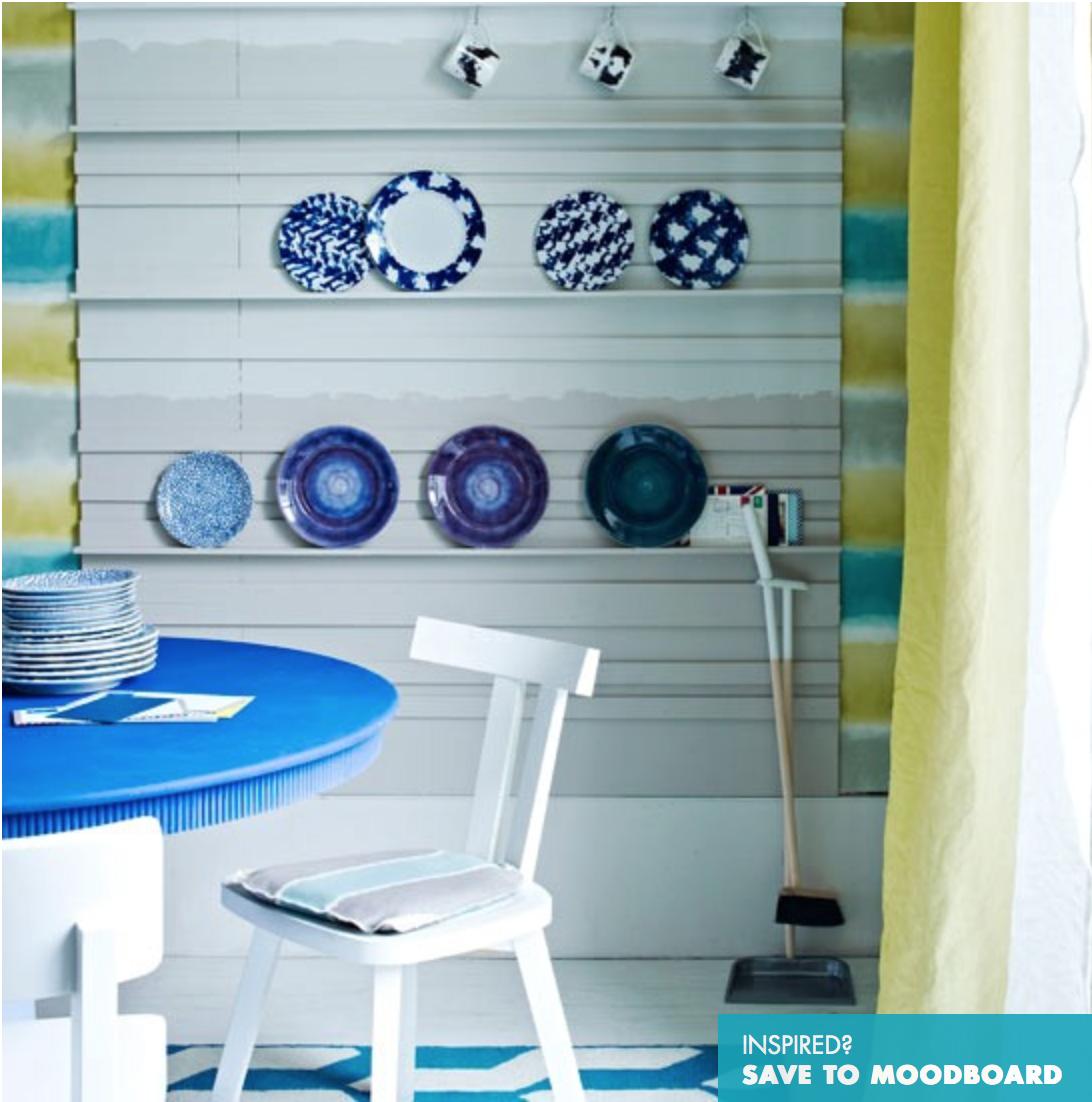Copa De Sala De Jantar ~ Olha este painel com pequenas prateleiras para pratos decorativos
