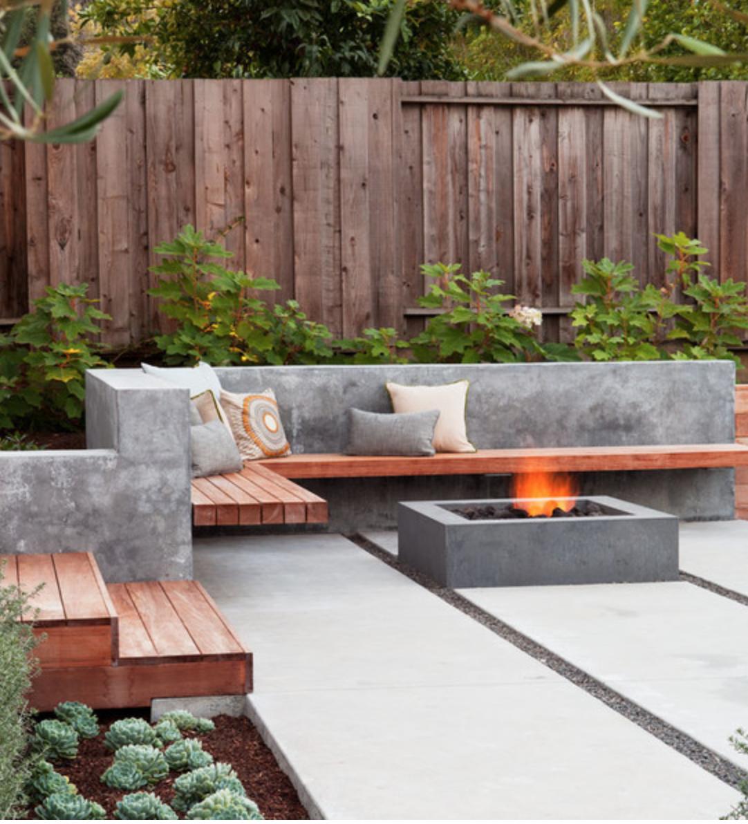Family Backyard Garden : Lareira na ?rea externa?Porque n?o?