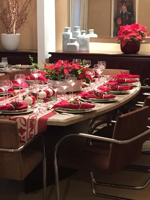 decoração de mesa de natal